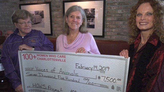100+ Women Who Care donated $7,500 to Voices for Animals