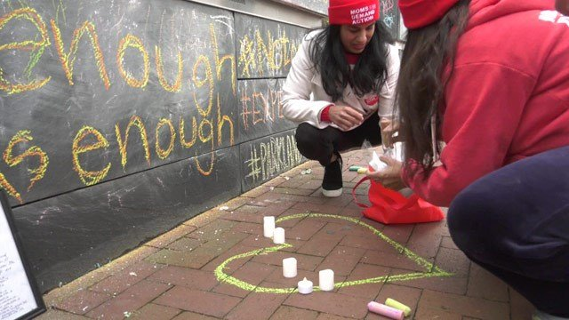 A vigil was held on Thursday for victims of the Parkland shooting.