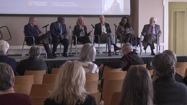 Panelists discussed the impact of the Unite the Right rally on free speech in Charlottesville.
