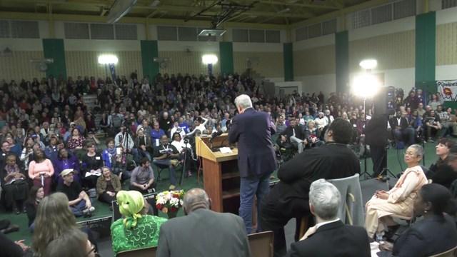 Al Gore spoke in Buckingham County on Feb. 19