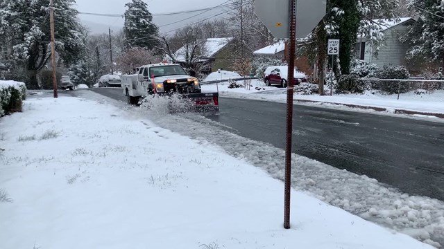 Crews pretreated the roads, making their job easier on Wednesday