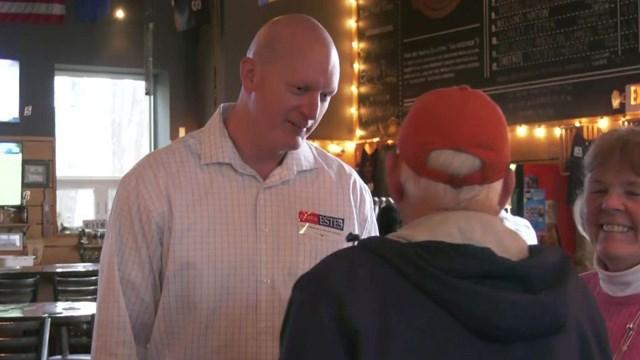Patrick Estes announced his campaign to run for Albemarel Sheriff at Pro Re Nata in Crozet.