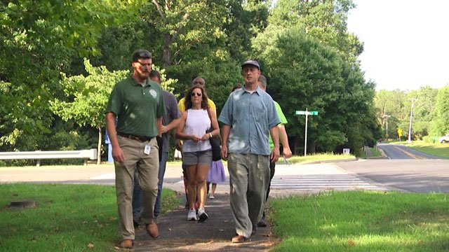 Albemarle Co. Community Gets 1st Tour of New Trails near Baker-Butler Elementary