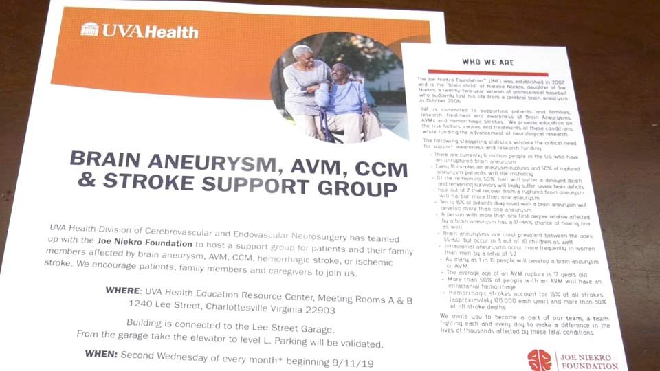 UVA Medical Center Offering Support Group for Stroke Survivors