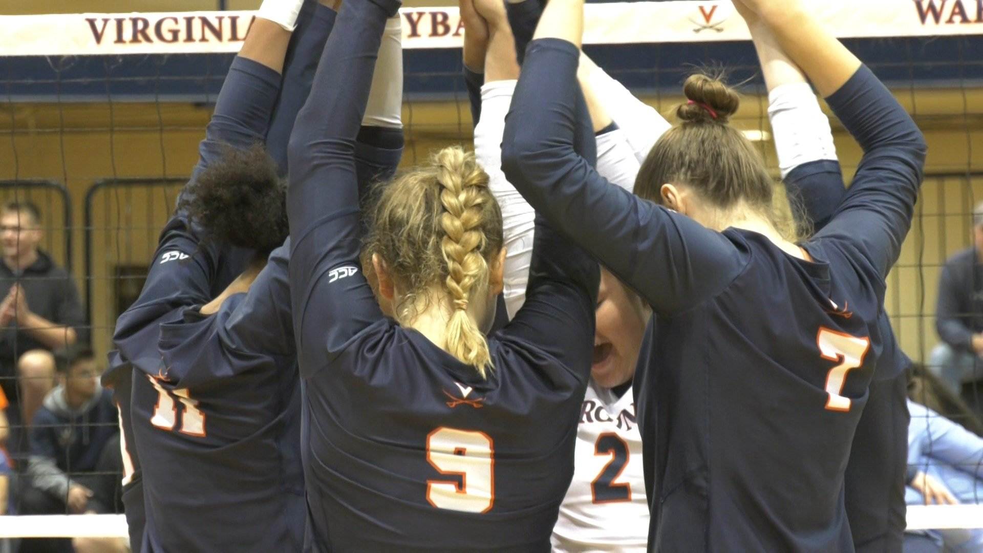 UVa Volleyball Falls in Three Sets to UNC