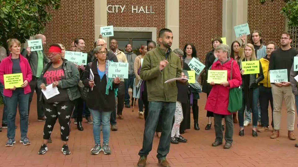 Police Civilian Review Board Supporters Rally Ahead of City Council Meeting