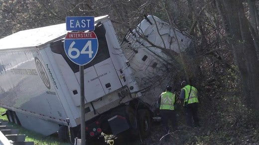 Tractor Trailer Accident Affects Traffic on I-64 Eastbound - WVIR