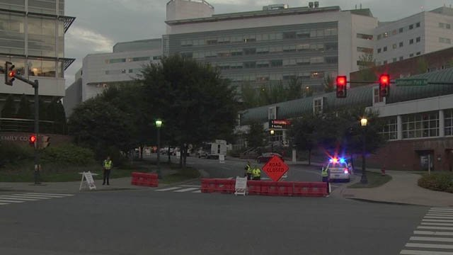 UVA Hospital Re-Opens Lee St  after Lockdown in Response to