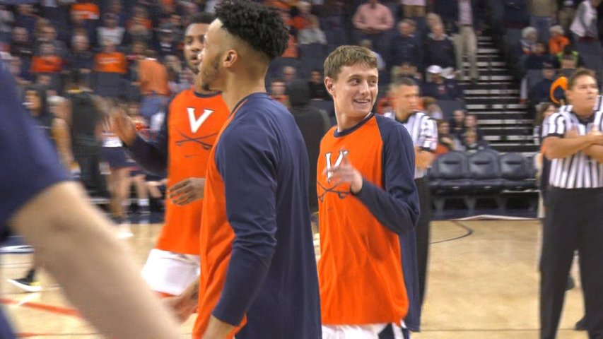 adaa375b8 UVa Basketball Team Manager Grant Kersey Earns Jersey - WVIR NBC29 ...