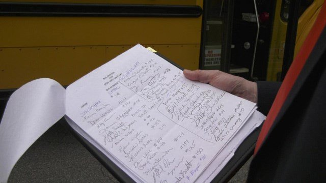 Dozens of school bus drivers in Albemarle County signed a petition to install cameras on the stop arms.