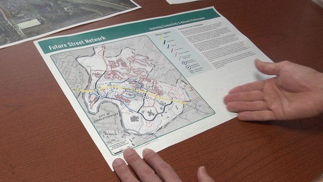 VDOT is looking at making a parallel street network on the north and south sides of Route 250.