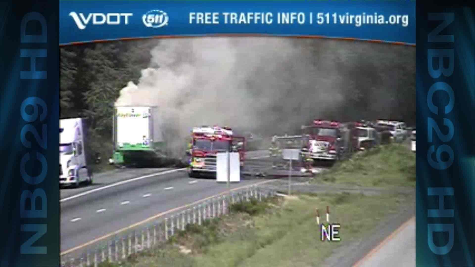 Left Lane on I-64 W Now Open Following Tractor Trailer Fire